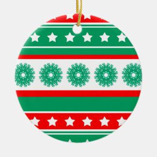 noel rond keramisch ornament