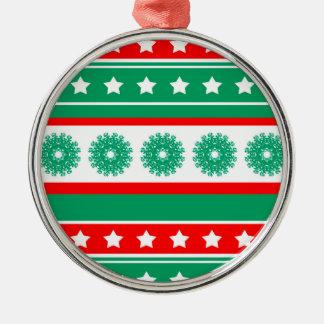 noel zilverkleurig rond ornament
