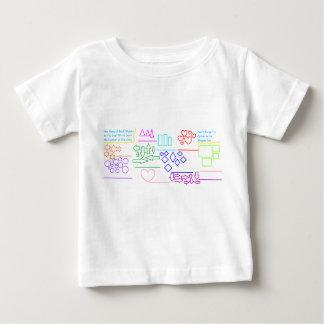 """""""Noem de Vormen & de Kleur in"""" het Overhemd van Baby T Shirts"""