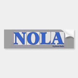 NOLA, de Blauwe Tegels van de Straat van de Brief Bumpersticker