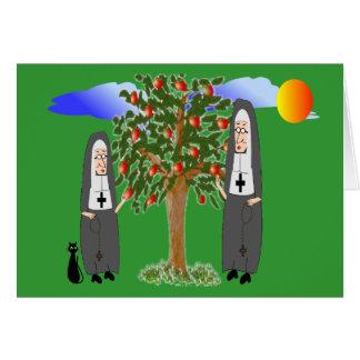 Nonnen die de Kaarten & de Giften van Appelen