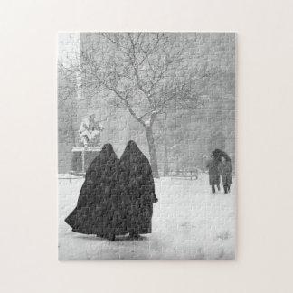 Nonnen in Sneeuw Puzzel