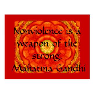 Nonviolence is een wapen van sterk. - Gandhi Briefkaart