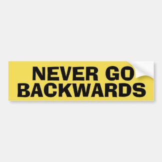 Nooit achteruit de Sticker van de Bumper