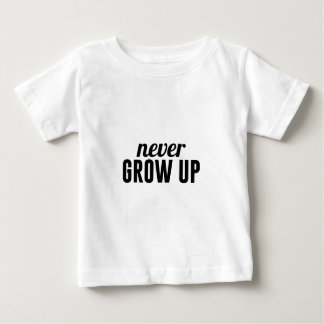 Nooit groei baby t shirts
