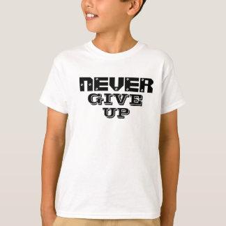 Nooit op geef t shirt