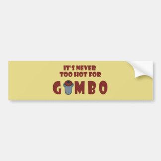 Nooit te Heet voor de Sticker van de Bumper van