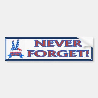 Nooit vergeet bumpersticker