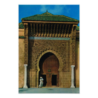 Noord- Afrika, Meknes, moskee, Tanger Poster