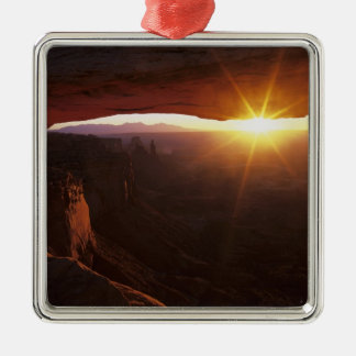 Noord-Amerika, de V.S., Utah, Canyonlands Zilverkleurig Vierkant Ornament