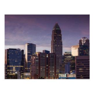 Noord-Carolina, Charlotte, opgeheven uitzicht Briefkaart