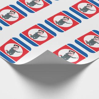 Noord- Korea Kim Jong Un Dabbing Inpakpapier