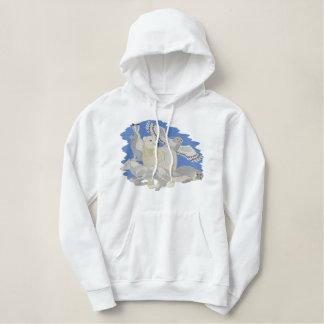 Noordpool Dieren Geborduurde Sweater Hoodie