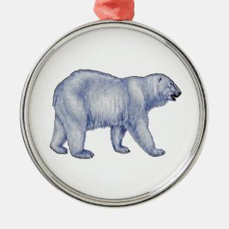Noordpool Overlevende Zilverkleurig Rond Ornament