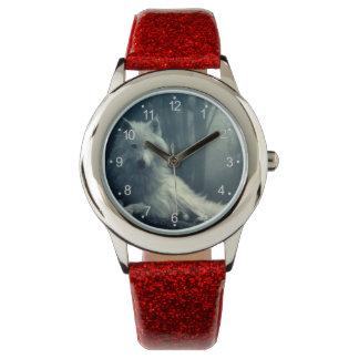 Noordpool wolf - boswolf - sneeuwwolf - witte wolf horloge