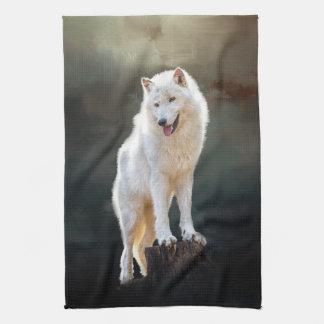 Noordpool wolf theedoek
