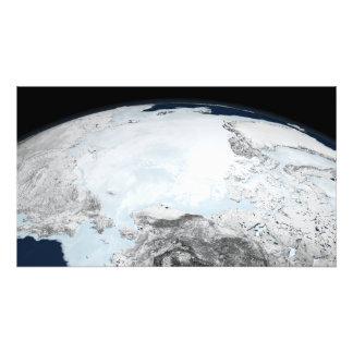 Noordpool zeeijs 2 fotoafdruk