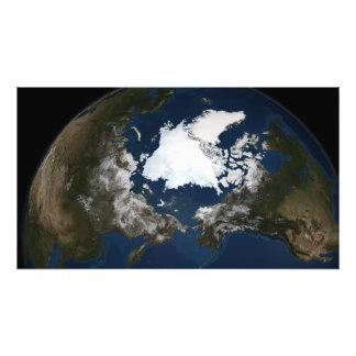 Noordpool zeeijs foto print