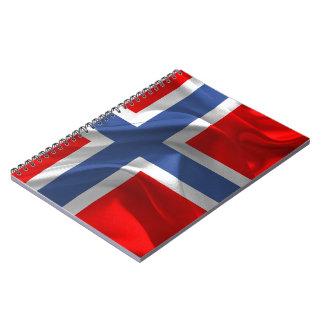 Noorse golvende vlag notitieboek
