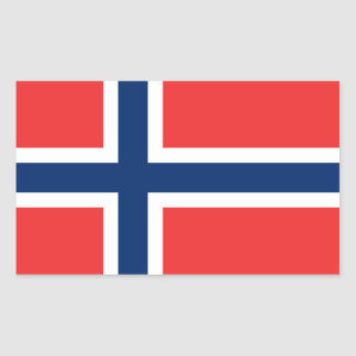 Noorse Vlag Rechthoekige Sticker