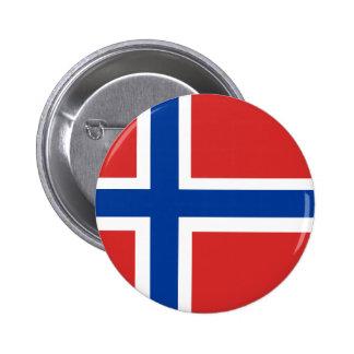 Noorse Vlag Ronde Button 5,7 Cm
