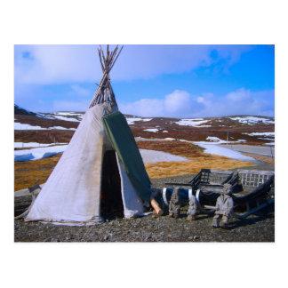 Noorwegen, Lapland, Regeling Sami Briefkaart