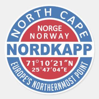 NORDKAPP de stickers van Noorwegen