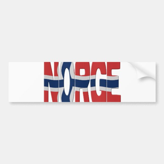 Norge flag bumpersticker