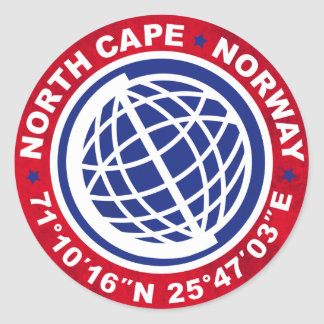 NORTH CAPE SPECIAL NORWAY RONDE STICKER