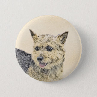 Norwich Terrier Ronde Button 5,7 Cm