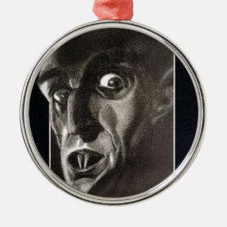 Nosferatu Zilverkleurig Rond Ornament