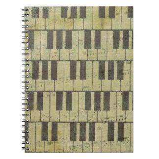 Nota van de Muziek van de piano de Zeer Notitieboeken