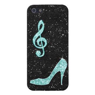 Nota van de Muziek van Sparkly de Blauwgroen & de iPhone 5 Cases