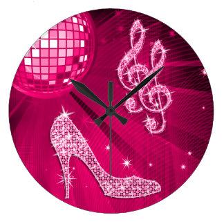 Nota van de Muziek van Sparkly de de Hete Roze & Ronde Klok Large