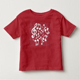 nota's en lyrische gedichten kinder shirts