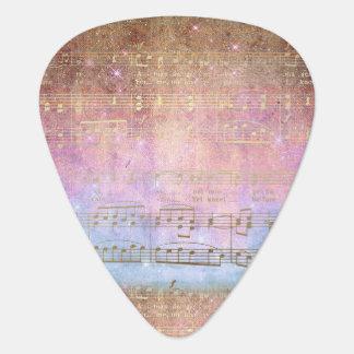 Nota's van de Muziek van het vintage Lied de Gitaar Plectrum