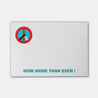 Nota's van de Post-it van de vrede & van het Post-it® Notes