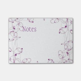 Nota's van de Post-it van de werveling de Paarse Post-it® Notes