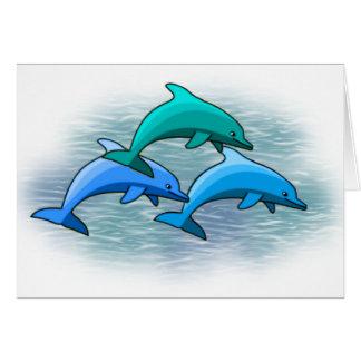Notecards van de dolfijn briefkaarten 0