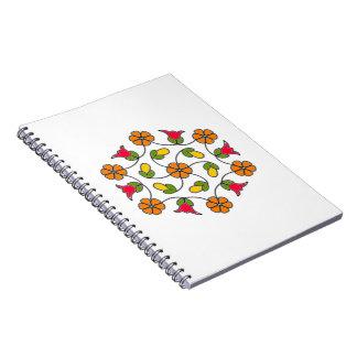 Notitieboekje-bloem Series#63 Ringband Notitieboek