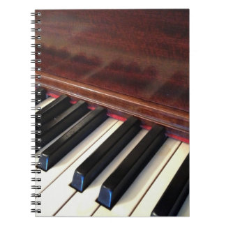 Notitieboekje die piano kenmerken notitieboek