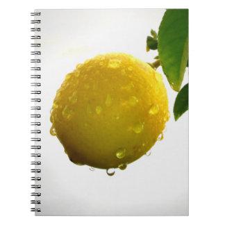 Notitieboekje/Persoonlijk Dagboek - gele citroen Notitieboeken
