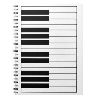 Notitieboekje van de Foto van de PIANO het Notitie Boek