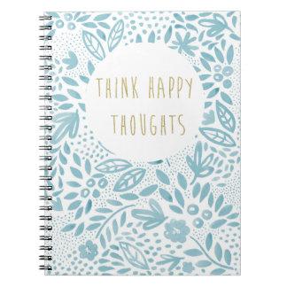 Notitieboekje van de Gedachten van de schoonheid Ringband Notitieboek