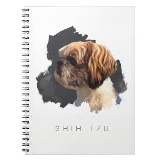 Notitieboekje van de Kunst van Tzu van Shih het Ringband Notitieboek