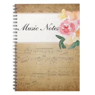 Notitieboekje van de Muziek van het Blad van de Ringband Notitie Boeken