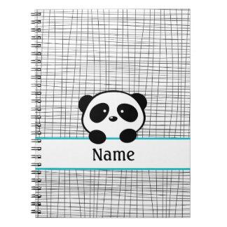 Notitieboekje van de Panda van Aqua het Zwarte Ringband Notitieboek