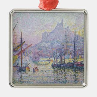 Notre-dame-DE-La-Garde La Zuivere Bonne Zilverkleurig Vierkant Ornament