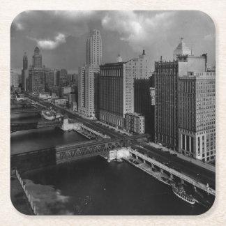 November 1939:  De stad van Chicago Vierkante Onderzetter