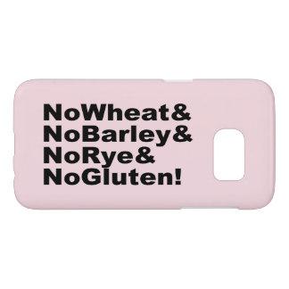 NoWheat&NoBarley&NoRye&NoGluten! (blk) Samsung Galaxy S7 Hoesje